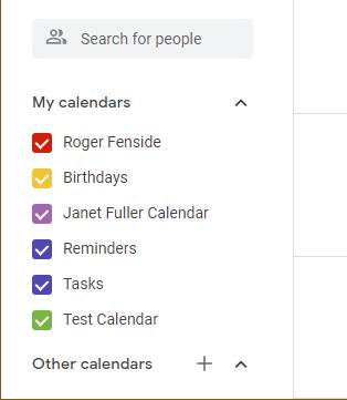 Google Calendar Selector
